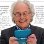 Entrevista a Eduard Punset, imágen de la campaña de 3DS en España
