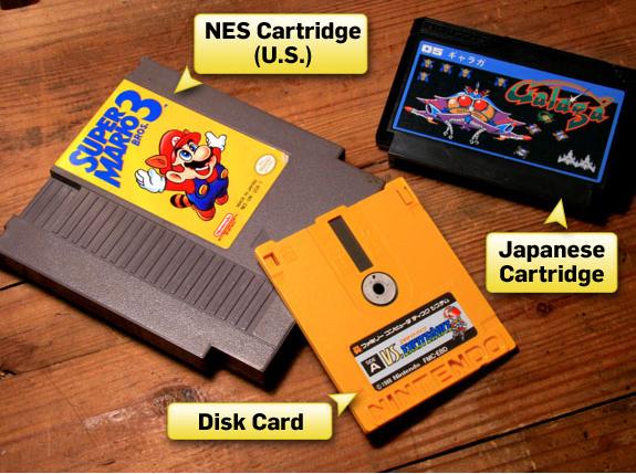 El carticho de NES contenía el mismo juego que uno de Famicom a pesar de su mayor tamaño.