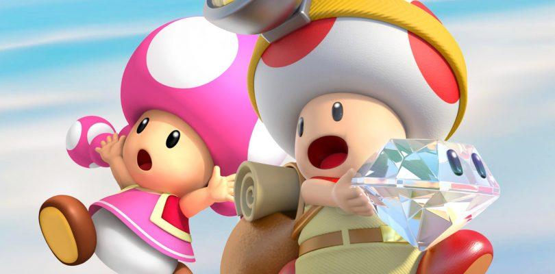 Capitán Toad y Toadette consiguiendo un diamante