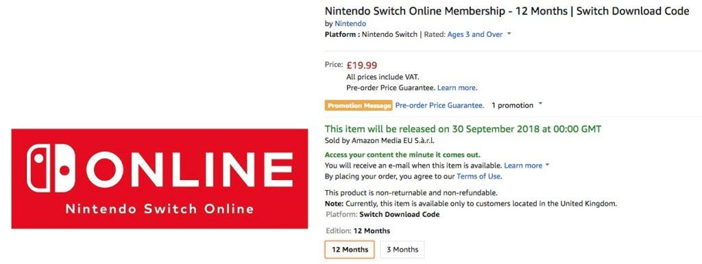 Amazon ya permite pagar por el Online de Switch