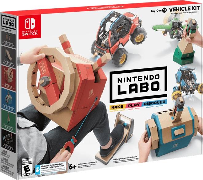 Nuevo kit de vehículos de Nintendo Labo