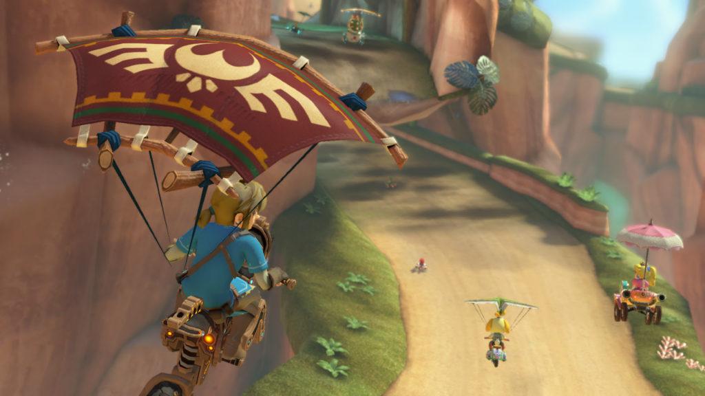 Mario Kart 8 Deluxe recibe a Zelda Breath of The Wild